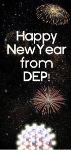 Happy New Year from DEP with fireworks